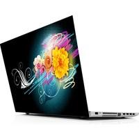 Sticker Masters Floral Color Laptop Sticker
