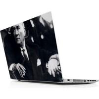 Sticker Masters Mustafa Kemal Atatürk Siyah Beyaz Laptop Sticker