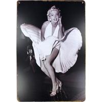 T-Bek Dekoratif Vintage Metal Pano Marilyn Monrue 20X30