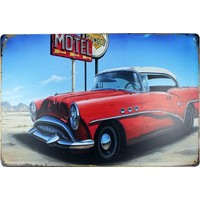 T-Bek Dekoratif Vintage Metal Pano Motel 20X30
