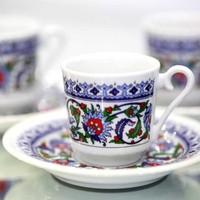 Kütahya Porselen Topkapı 6 Kişilik Fincan Takımı