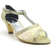 Sarıkaya Abiye Altın Rengi Kız Çocuk Topuklu Ayakkabı