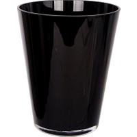 Loveq Dekoratif Siyah Cam Vazo 17X20,5 Cm Drn-01233