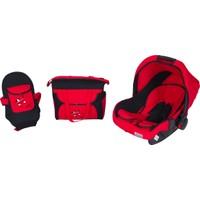 Maller Tres Üçlü Set - Kırmızı - Siyah