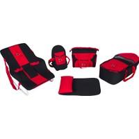 Maller Venedik Beşli Set - Kırmızı - Siyah