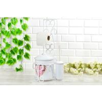 Love G Windsor Metal Çöp Kovalı Wc Kağıtlık Fırça Set
