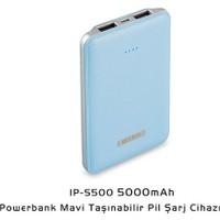 S-Lınk 5000Mah Powerbank Siyah Taşınabilir Pil Şarj Cihazı