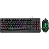 Gamemax FK-G430QU Kablolu Gaming IŞIKLI Multimedya Klavye & Mouse Set