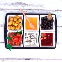Ubi Home Side Siyah Seramik&Akrilik Kahvaltı Seti