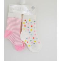 İdil Baby 8820 Kız Bebek 2'li Çorap