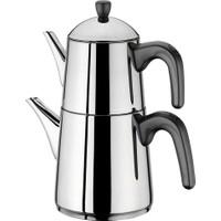 Aryıldız De Luxe Sade Kanka Siyah Çaydanlık Takım