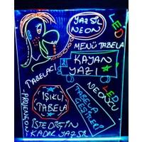 Projeneon Yaz Sil Led Neon Tabela 60 x 80 Cm 4 Kalem