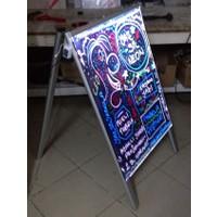 Projeneon Yaz Sil Neon Tabela 60 x 80 Cm A Ayaklı Çift Taraflı 4 Kalem