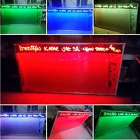 Projeneon Yaz Sil Neon Led Tabela 120 x 80 Cm 4 Kalem