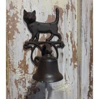 House2Home Antik Döküm Koleksiyon - Kedi Kapı Çanı