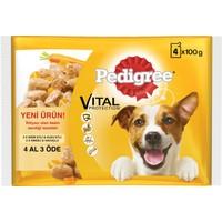 Pedigree Multipack Biftek&Kuzu - Hindi&Havuç Pouch 4x100gr