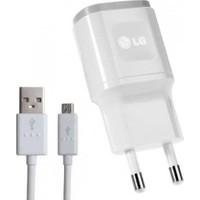 LG Orijinal Şarj Cihazı + USB Kablo Beyaz - MCS-04ED/B (İthalatçı Garantili)
