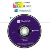 Microsoft Windows 10 Pro 32/64Bit Kutu (Dvd + Etiket)