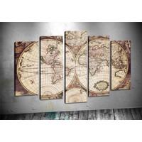 Caddeko Pl64 Dünya Haritası Kanvas Tablo 70 x 100 cm