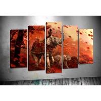 Caddeko Rpt45 Fil Ve Savaşçı Kanvas Tablo 70 x 100 cm