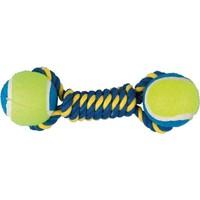 Çift Toplu İp Sargı Köpek Oyuncağı (Mavi/Sarı) 22 Cm