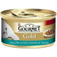 Purina Gurme Gold Somonlu Tavuklu Parça Etli 85 Gr