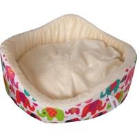 Lepus Peluş Kedi Köpek Yatağı Filli Krem 18*52 Cm