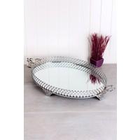 Queen's Kitchen Kararmaz İçi Aynalı Lüx Oval Tepsi