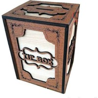 Direkstoktan Tip Box Bahşiş Kutusu Ahşap - Anahtarlı Kilitli