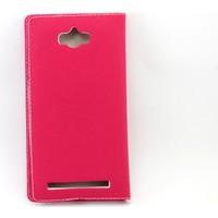 Diamond Asus Zenfone Max (Zc550Kl) Gizli Mıknatıs Pencereli Kapaklı Kılıf + Kırılmaz Cam Jelatin
