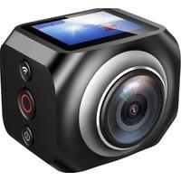 """Eken R360 Vr 360 Derece Panaromik Kumandalı 1.5"""" Lcd 2.7K Ultra Hd 1440P/30 Fps, Full Hd 1080P/30 Fps Su Geçirmez Wifi Profesyonel Sanal Gerçeklik Video Çekimi Aksiyon Kamerası"""
