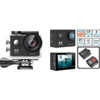 Eken H9R Kumandalı 4K Ultra HD 2160p 2 inç LCD 170 Derece Balık Gözü Lens 30M Waterproof Profesyonel Aksiyon Kamera