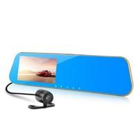 General Plus 4.3 inç LCD Ekran General Plus GP43HD Çift Yön Dikiz Ayna Geri Vites Türkçe Menü 12 MP Full HD 1080P 170/140 Derece Geniş Açı Lens Gece Görüşlü DVR Gold Metal Kasa Araç İçi Kamera
