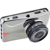General Plus 3 inç LCD Ekran General Plus GP63 Tek Yön Türkçe Menü 16 MP Full HD 1080P 160 Derece Geniş Açı Gece Görüşlü DVR Gümüş Metal Kasa Araç İçi Kamera