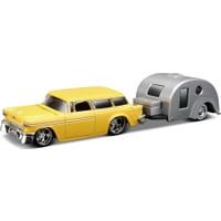 Maisto 1955 Chevrolet Nomad Traveler Trailer 1:64 Oyuncak Araba