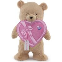 Neco Plush Sevgiliye Hediye Fluffy Kalp Kutu Flamalı Ayı 55 cm
