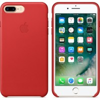 Apple iPhone 7 Plus / 8 Plus Deri Kılıf - Kırmızı - MMY62ZM/A (İthalatçı Garantili)
