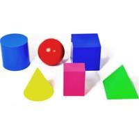 Try Geometrik Cisimler Takımı (Renkli Plastik), 6 Parça 10 cm