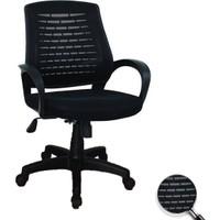 Depolife Fileli Kollu Ofis Koltuğu Çalışma Sandalyesi Siyah