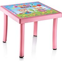Hepsi Dahice Çocuk Masası 50X50 Desenli Kız