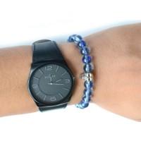 TveT Açık Mavi Saat Yanı Bileklik