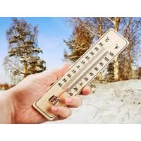 TveT Ahşap Termometre ve Nem Ölçer