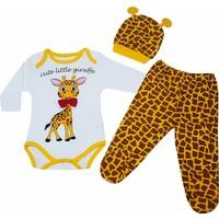 Karyel Zürafalı 3'lü Bebek Zıbın Seti Pp-Z