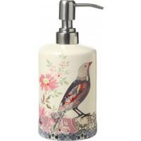 Evdebir Kuş Temalı Seramik Sıvı Sabunluk-Losyonluk