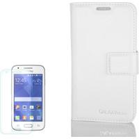 Gpack Samsung Galaxy Ace 4 Kılıf Standlı Serenity Cüzdan + Cam