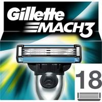 Gillette Mach3 Yedek Tıraş Bıçağı 18'li Karton Paket