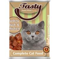 Tasty Hindili Ördekli Tavuklu Kedi Konserve Yaş Maması 415 GR