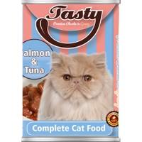 Tasty Somon Tuna Balıklı Kedi Konserve Yaş Maması 415 GR