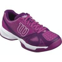 Wilson Kadın Tenis Ayakkabısı Rush open 2.0 W Azalee Pembe / Koyu Erik / Beyaz ( WRS321110E055 )