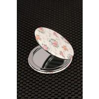 Hediyeliksepeti Floral Desenli Cep Aynası Ayn136
